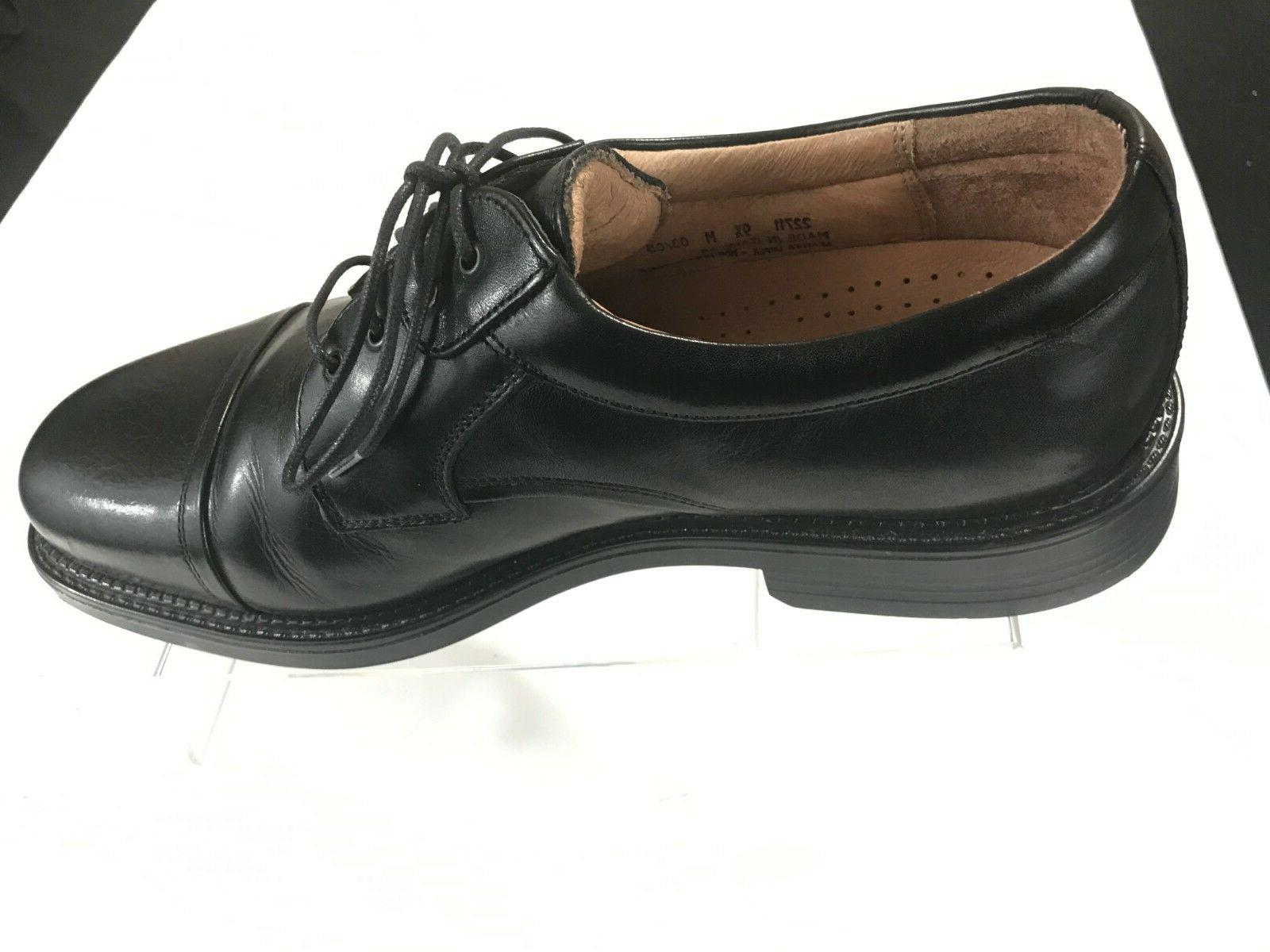 BOSTONIAN Mens Black Cap Oxford Shoes 9.5 M in Italy