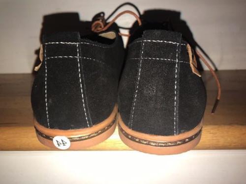 Dadawen Sz 9- 1/2 Black Leather Shoes Ebc-