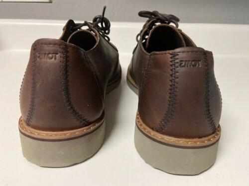 Toms Brown Leather Lace Shoes Size 10