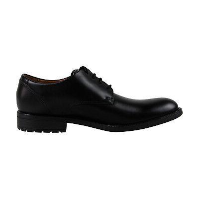 Clarks Truxton Plain Mens Black Leather Dress Lace Shoes 15