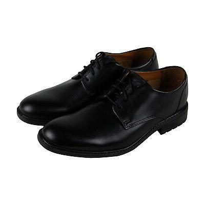 truxton plain mens black leather casual dress