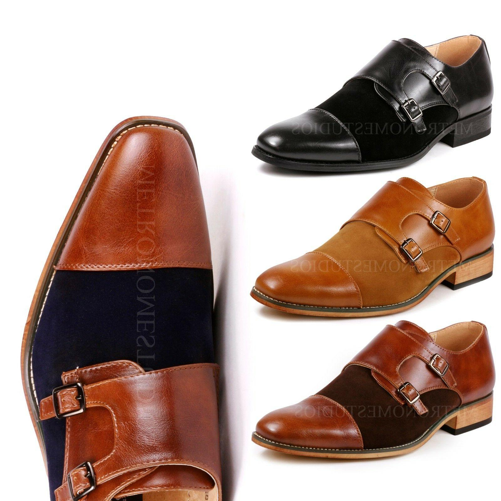 two tone men s cap toe double
