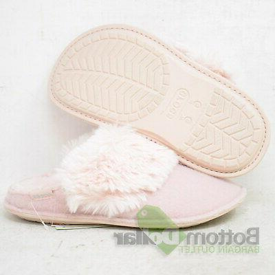 unisex classic luxe lined slippers rose dust
