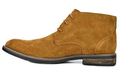 Bruno Marc Camel Leather Up Desert -
