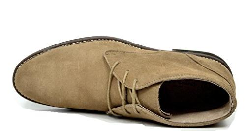 Bruno Marc URBAN-01 Sand Classic Leather Lace Oxfords Desert Boots US