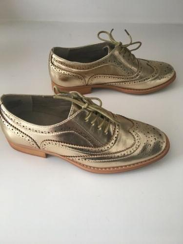 Urban Outfitter Gold Metallic 8.5 New