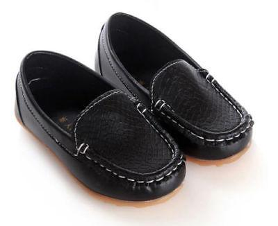 Boys Girls Boat Kids Shoes Slip On Loafers Casual