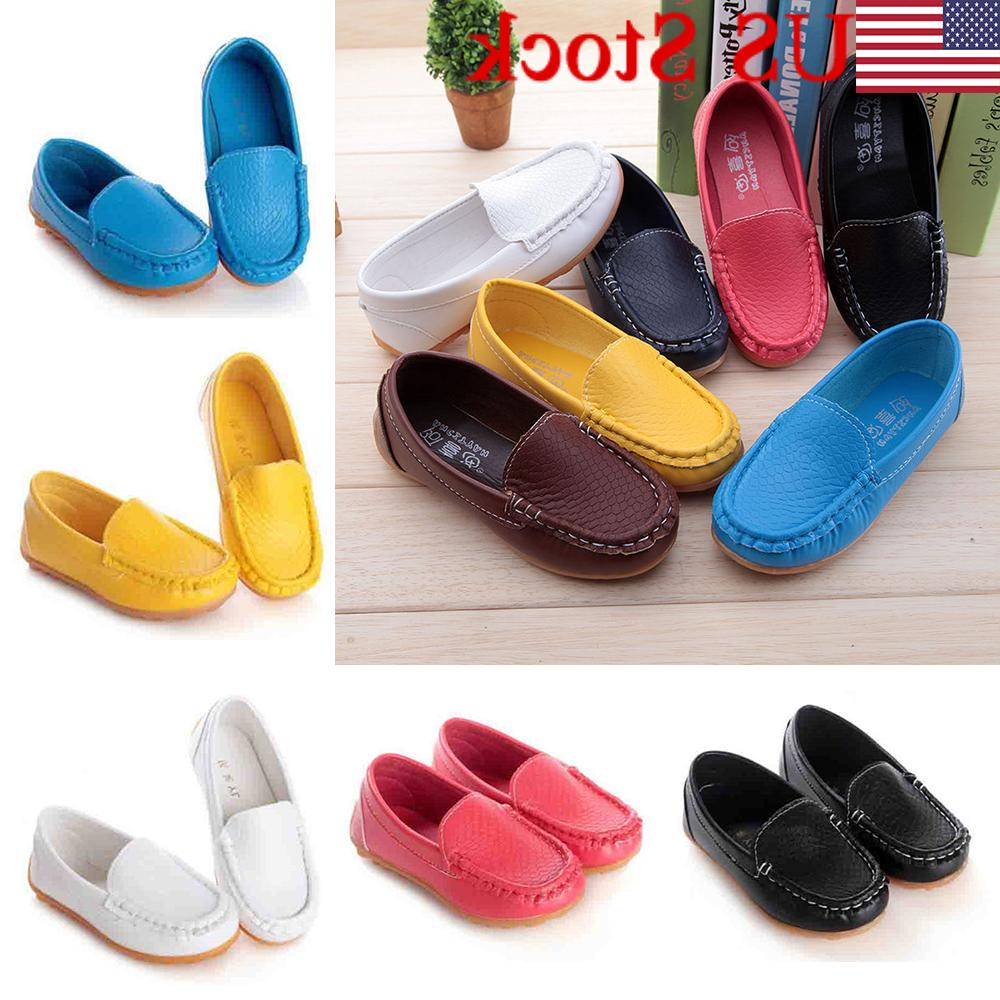 US Kid Boys Girls Soft Flats Casual Shoes Toddler On