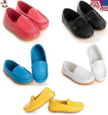 kids baby boys girls oxford flat boat