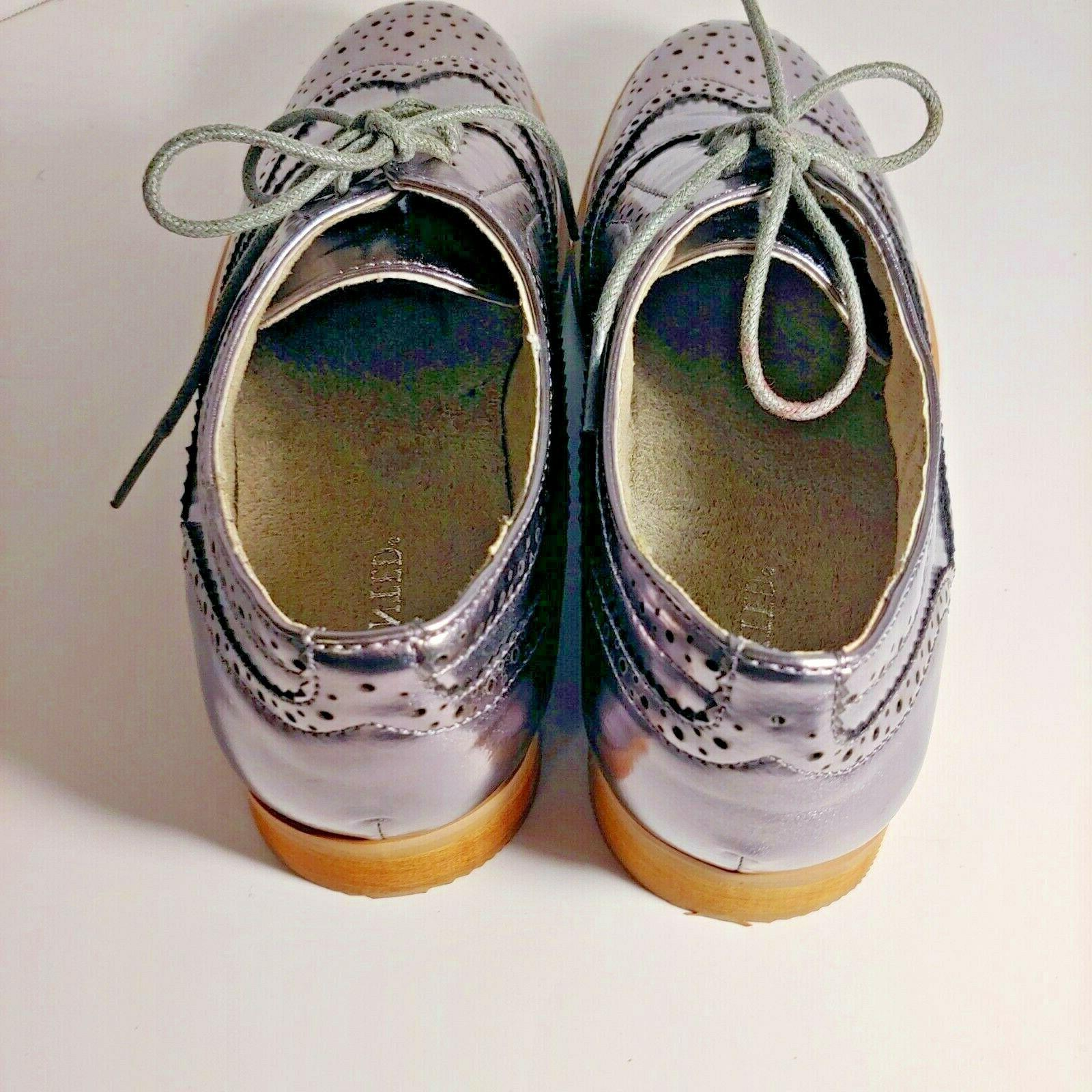 Wanted Women Pewter oxford shoe