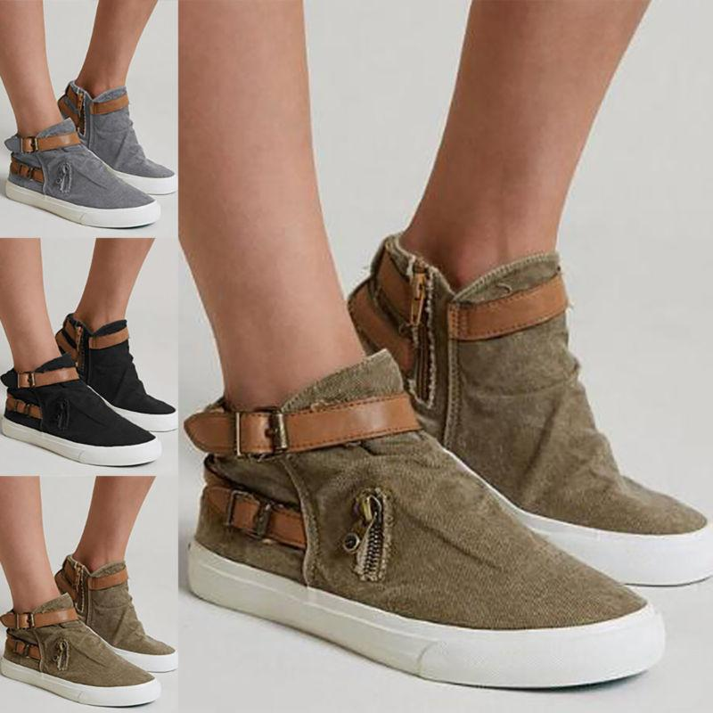 Womens On Flat Sneakers Casual