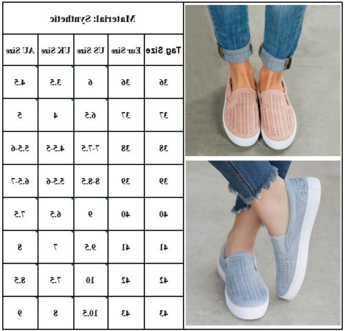 Womens Slip Sneakers Brogues Casual Shoes