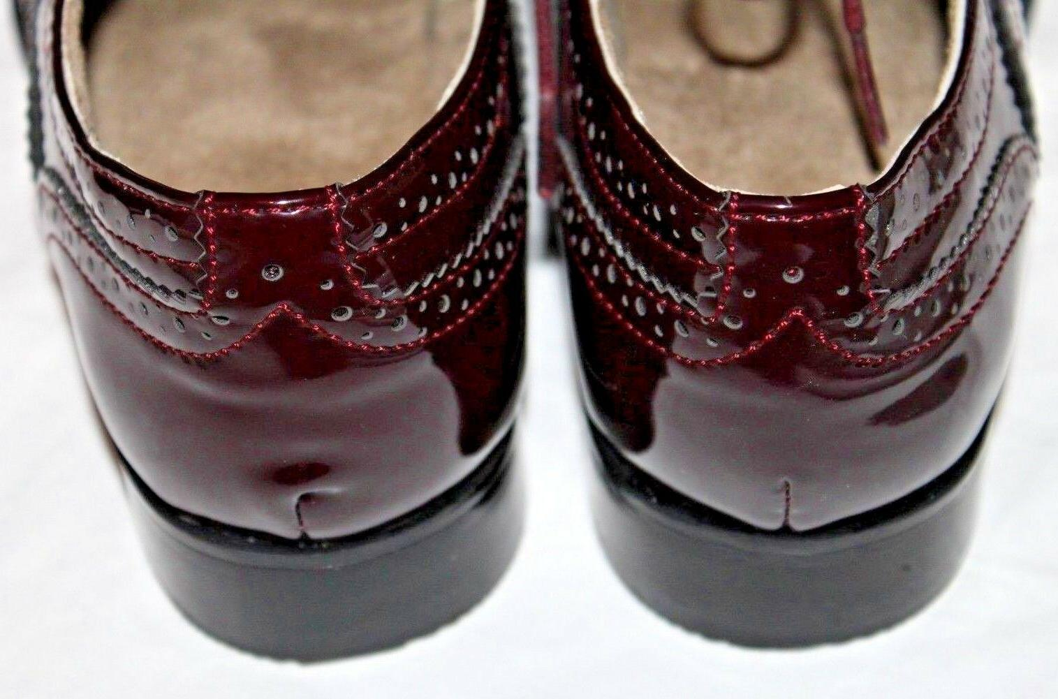 Wanted Babe Burgundy Patent Leather Size 10