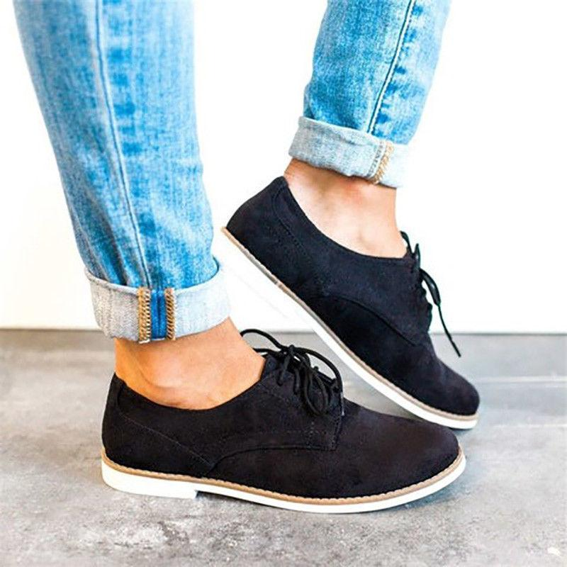 US Women Wing Tip Dress Loafers Lace