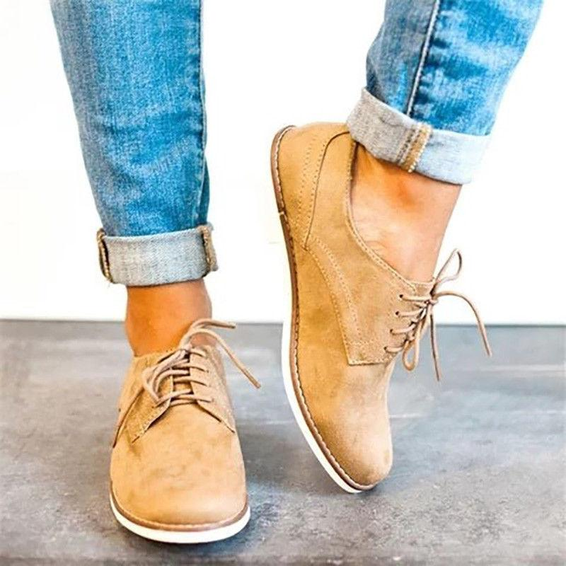 US Casual Wing Tip Oxfords Dress Lace Up Flat