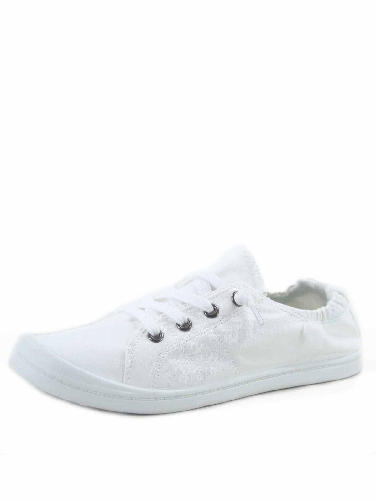Women's Causal Slip Flat Heel Sneaker All 5.5 11 NEW