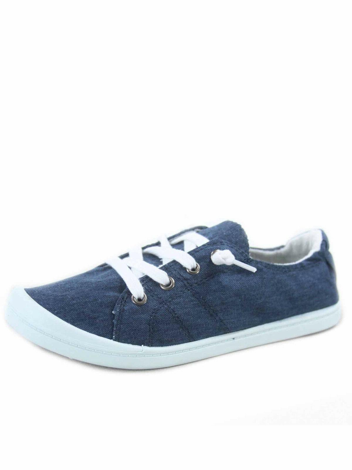 Women's Flat Round Toe Sneaker Shoes 5.5 11