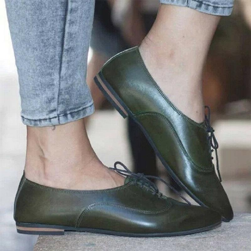 Women's Brogues Lace Toe Casual Pumps Shoes