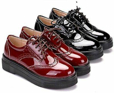 DADAWEN Women's Comfort Wingtips Oxford Shoes Bro...
