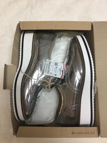 Silver Platform Derby Shoes Blucher Oxfords