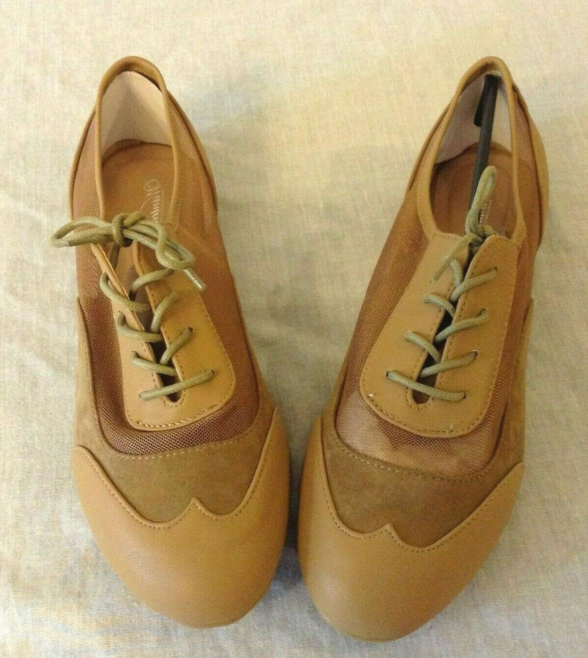 women s taupe mesh oxford lace up