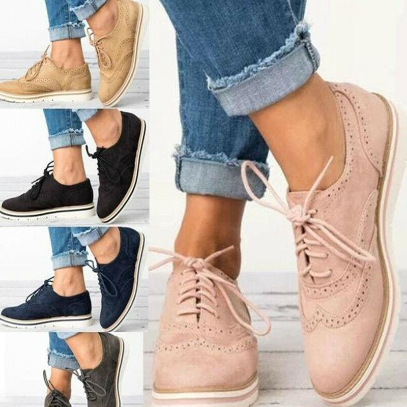 Women Casual Brogues Work Office Loafers