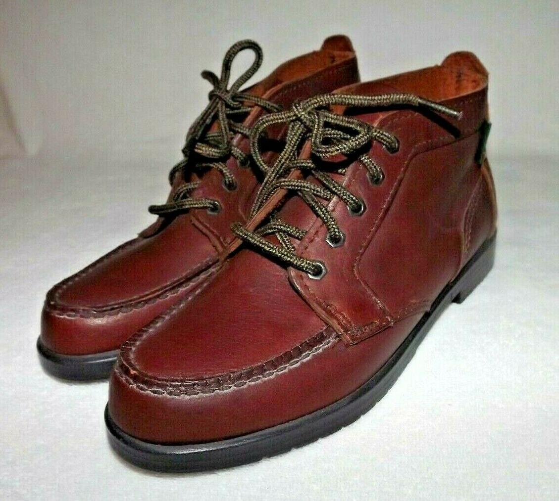 womens 7 5 m brown leather moc