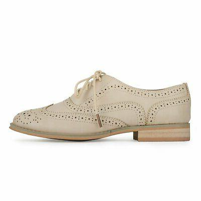 Wanted Babe Almond Oxfords, Size 9.0 ORha