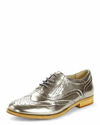 womens babe closed toe oxfords pewter size
