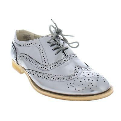 womens babe faux leather wingtip brogue oxfords