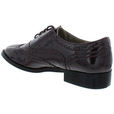 Wanted Womens Babe Purple Faux Leather Oxfords 8.5 BHFO