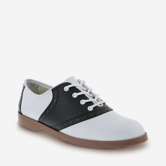 womens black white saddle oxford shoes size