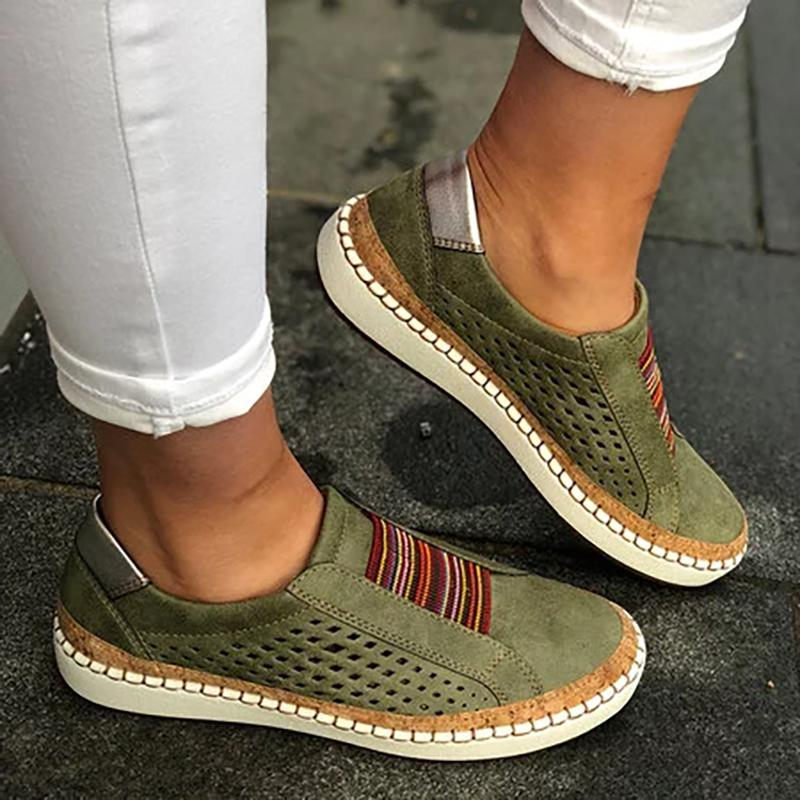 Womens Slip Sneakers Loafers Oxford Flat Casual Pumps Shoes 9