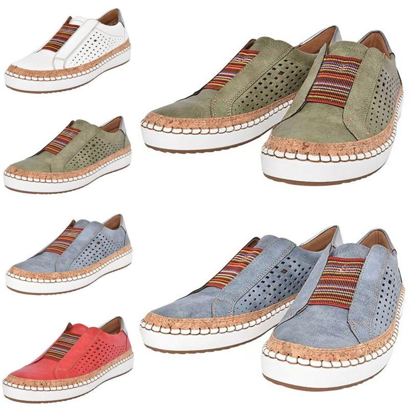 womens breathable slip on sneakers loafers oxford