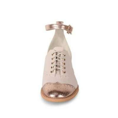 womens cherub cap toe ankle strap oxfords