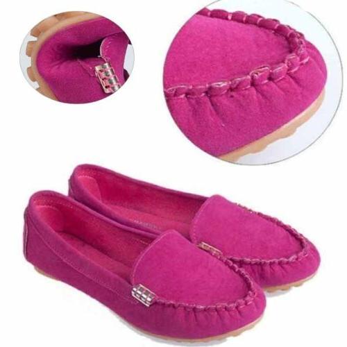 Womens Flat Loafers Ladies Slip