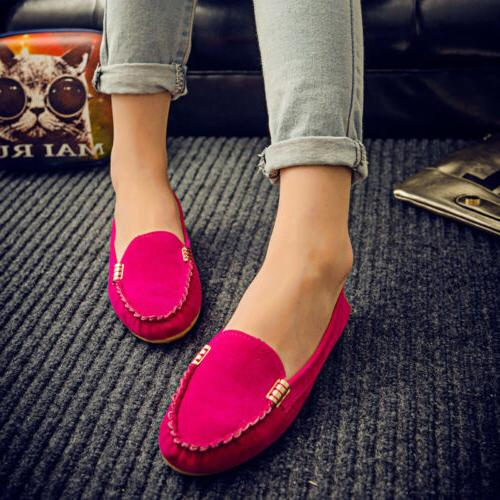Womens Suede Loafers Ladies