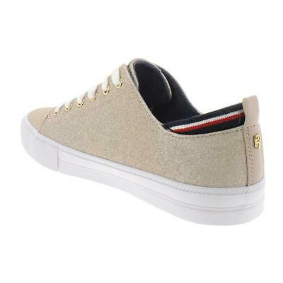 Tommy Womens Glitter Top Skate Casual Sneakers BHFO 8142