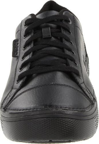 Crocs Men's Oxford,Black/Black,7 US