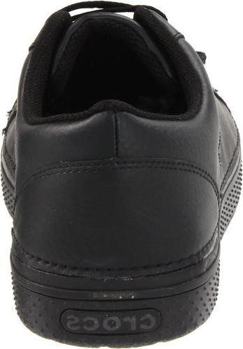Crocs Men's Work Oxford,Black/Black,7 M