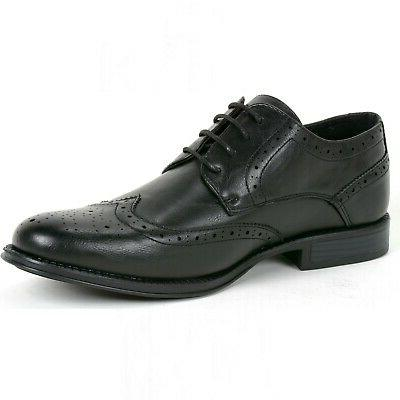 Alpine Mens Wing Tip Shoes Two Tone Brogue Lace Up Oxfords