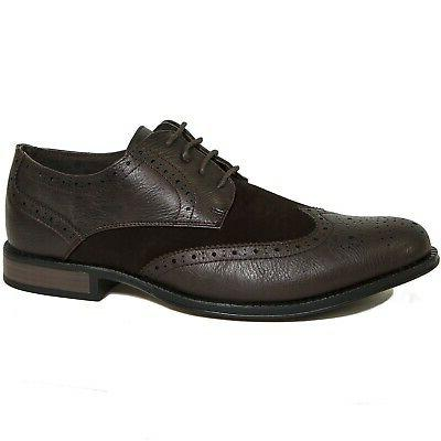 Alpine Zurich Wing Tip Two Up Oxfords