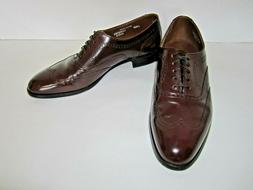 Leather Mens Bostonian Burgundy Wingtip Oxford Shoes Sz 10.5