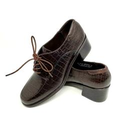 Rockport Leather Stacked Heel Oxford Shoes Womens 7M Brown C