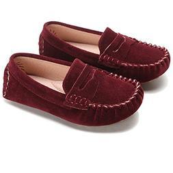 little kids penny loafers flat heel slip