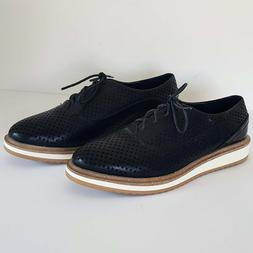Wanted MacDaddy Lace Up Oxford Shoes Women's Size 9 Black Sy