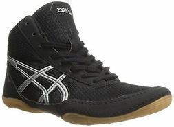ASICS Matflex 5 GS Wrestling Shoe , Black/Silver, 1.5 M US L