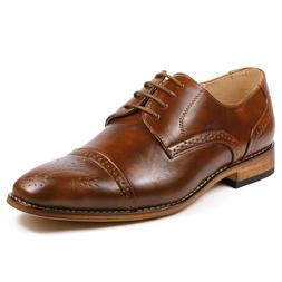 Metrocharm MC105 Men's Cap Toe Lace Up Oxford Dress Shoes