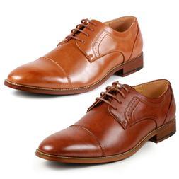 Metrocharm MC151 Men's Cap Toe Lace Up Oxford Dress Shoes
