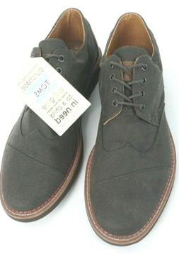 TOMS Men Brogue Oxford Shoes 10007000 Ash Aviator Twill Size